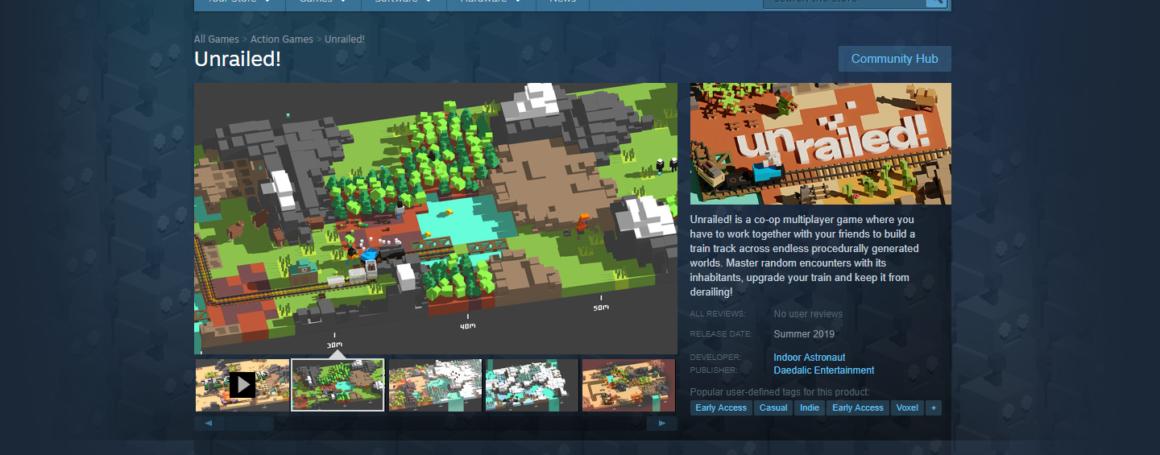 Unrailed! Steam Page Online!